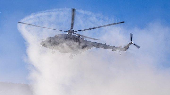 Загорелся при запуске двигателя: На вертолете Ми-8 с 14 людьми на борту произошёл пожар - СМИ