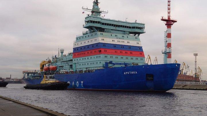Ледокол «Арктика», построенный в Санкт-Петербурге, вошел в состав атомного флота России