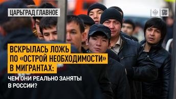 Вскрылась ложь по «острой необходимости» в мигрантах: чем они заняты в России?