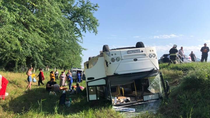 Губернатор Краснодарского края заявил, что в ДТП с автобусом серьезно пострадавших нет
