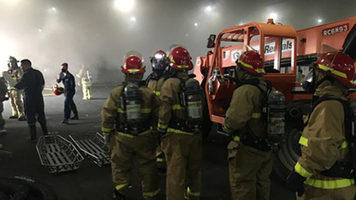 Вместо эффектного кадра - взрыв: В Подмосковье горит площадка Главкино. О пострадавших неизвестно