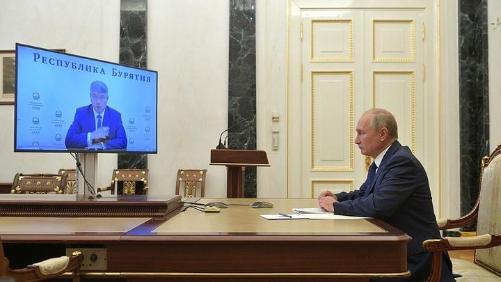 Губернатор Бурятии похвастался демографией: Путин осадил одной цифрой