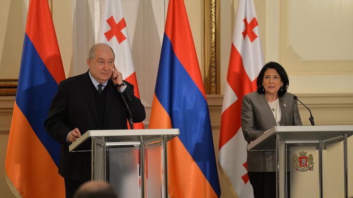 Стали известны подробности встречи президентов Грузии и Армении