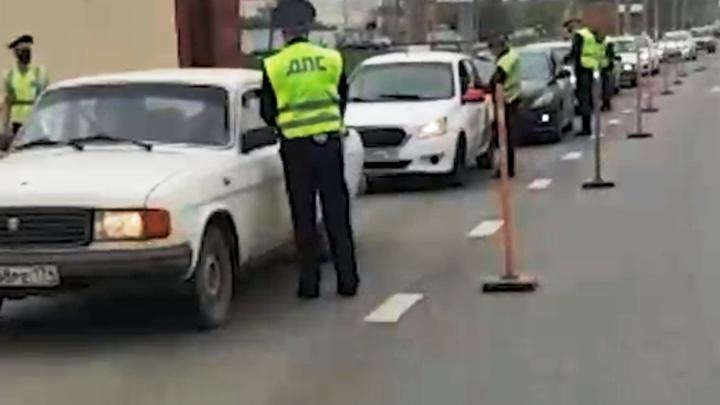 На въездах в крупные города Челябинской области стоит полиция