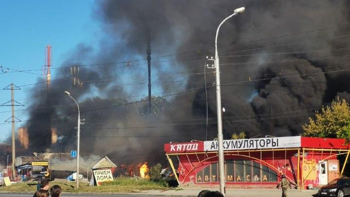 Цистерна пролетела сотни метров после взрыва на газовой АЗС в Новосибирске - видео