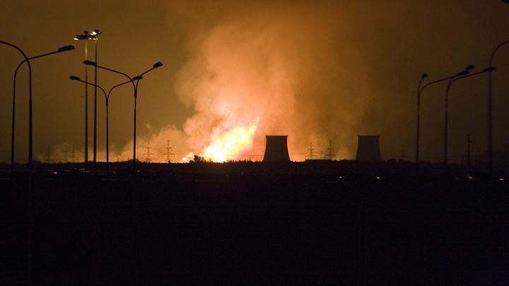 Столб огня вырвался из газопровода под Нижним Новгородом