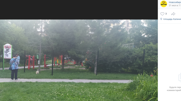 В Новосибирске жители многоэтажки отгородили забором сквер с фонтаном