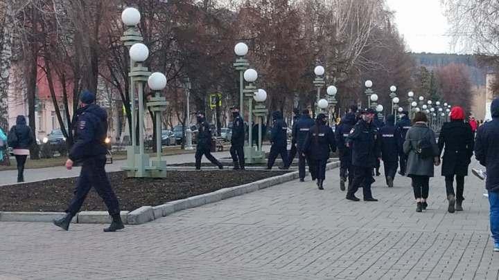 Во время несанкционированного митинга полиция задержала 66 кузбассовцев