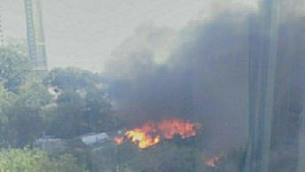 МЧС: Причиной возгорания в Ростове-на-Дону стал посторонний источник зажигания
