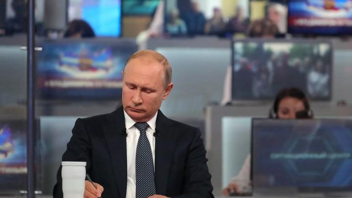 Владимир Путин попросил зрителей у экранов не обижаться на него