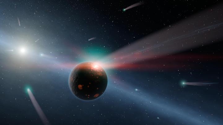 Ученые: вспышка на Солнце не дала Марсу искупаться в хвосте кометы