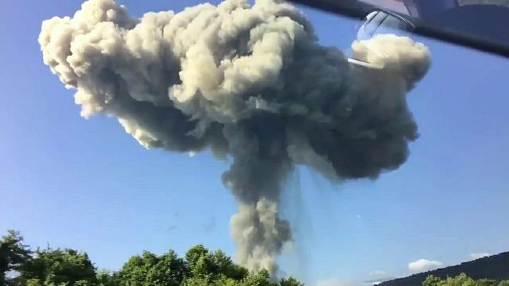 Из-за взрывов на складе боеприпасов над Винницей закрыли воздушное пространство