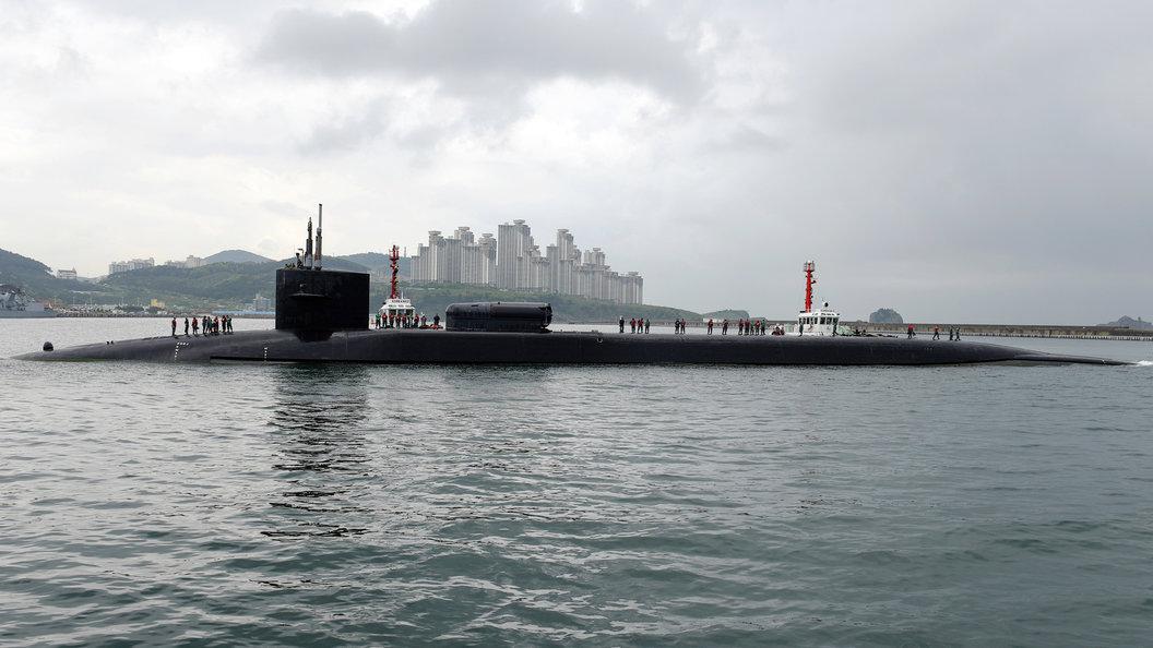 Подлодка США со 150 Томагавками зашла в южнокорейский порт