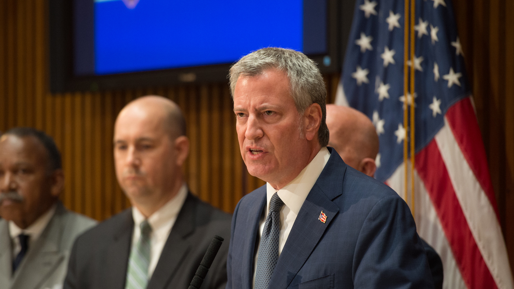 ДеБлазио переизбран мэром Нью-Йорка