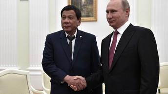 Стали известны темы переговоров Путина и Дутерте на саммите АТЭС во Вьетнаме
