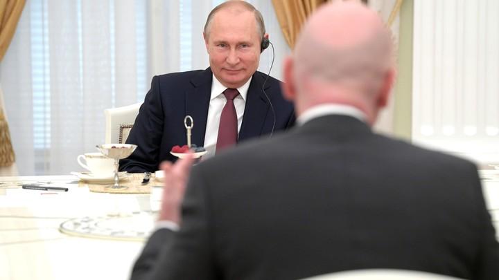 Мировой футбол в гостях у Владимира Путина