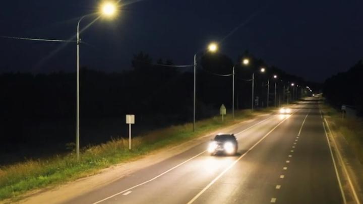 На трассе Иваново-Тейково установили освещение