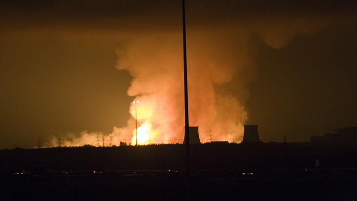 Опубликовано видео взрывов на военном складе в Чернигове
