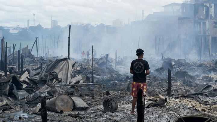 В Ингушетии дотла выгорел крупнейший в республике строймаркет