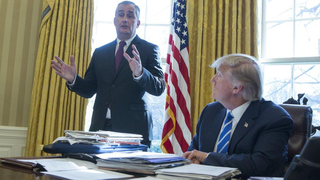 Глава Intel оставил пост в Белом доме из-за политического раскола в США