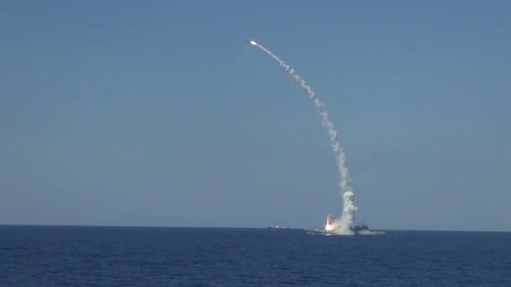 В Сети опубликован выстрел Калибром с Северодвинска в Баренцевом море