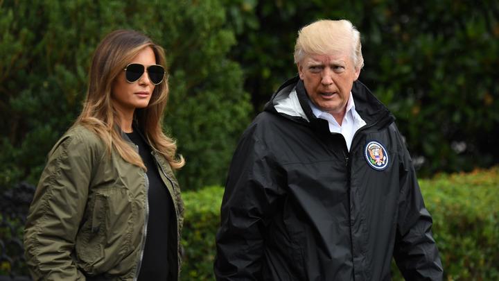 Трамп с семьей прибыл в пострадавший от Харви Техас