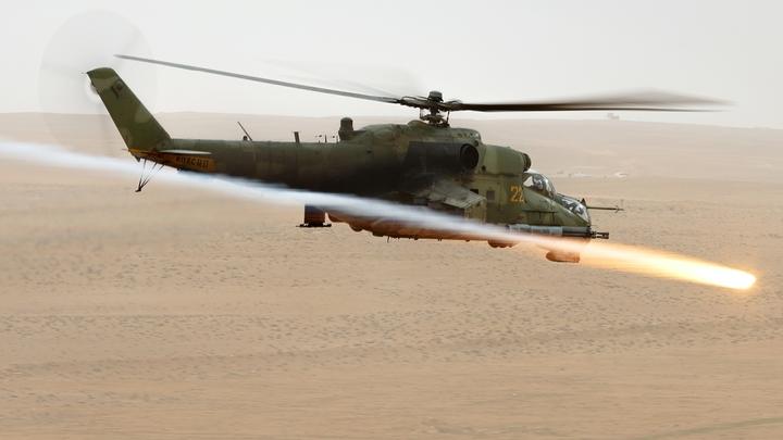 В Сети появились кадры разгрома Ночным охотником позиций ИГ в Сирии
