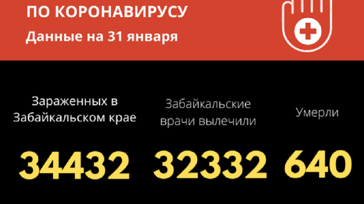Коронавирус в Забайкалье на 31 января: инфекцию победили еще 204 человека