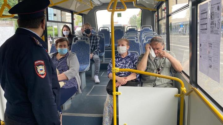 В Ростове-на-Дону полиция устроила облаву на нарушителей масочного режима в автобусах