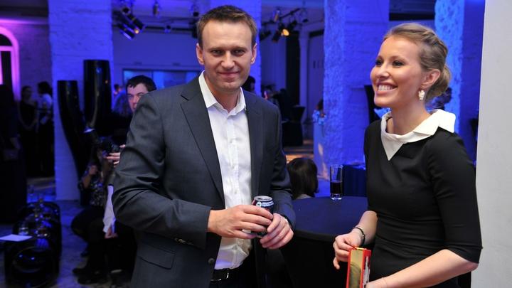 Навальный и Собчак устроили провокацию на двоих