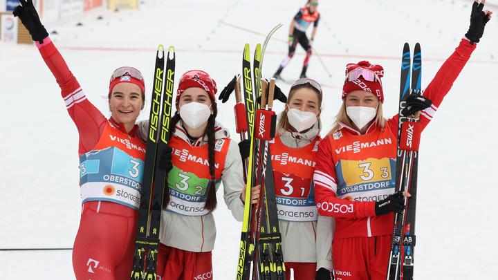 Умру, но постараюсь не отстать: Российские лыжницы на ЧМ взяли серебро с золотым отливом