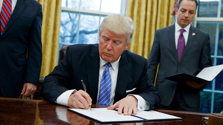 Трамп гнет свою линию