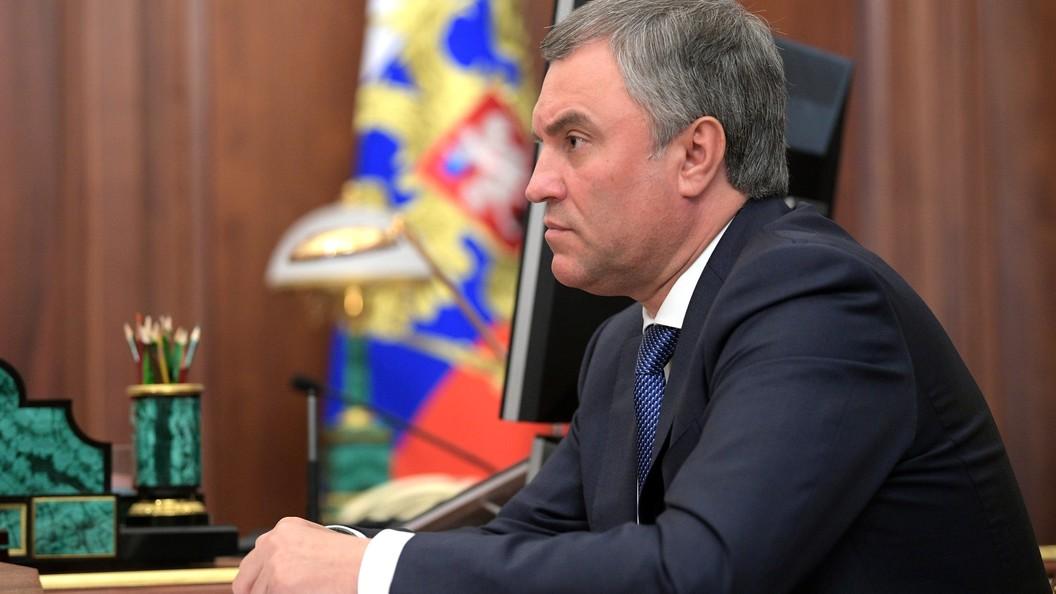 Володин научил молодых политиков депутатскому счастью
