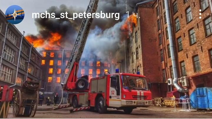 В завалах «Невской мануфактуры» продолжается горение