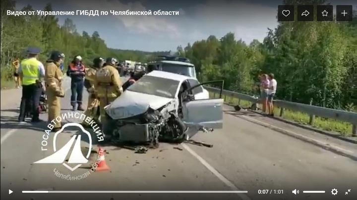 В Челябинской области Фольксваген Поло сбил две Тойоты на М-5: погибла женщина