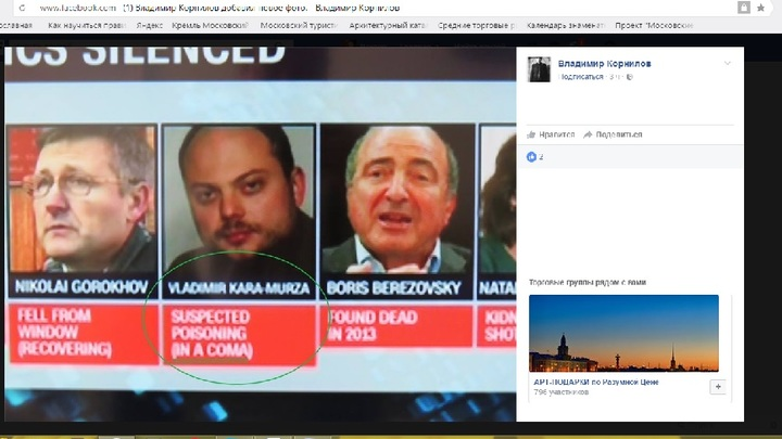 CNN вновь ввел здравствующего Кара-Мурзу в кому