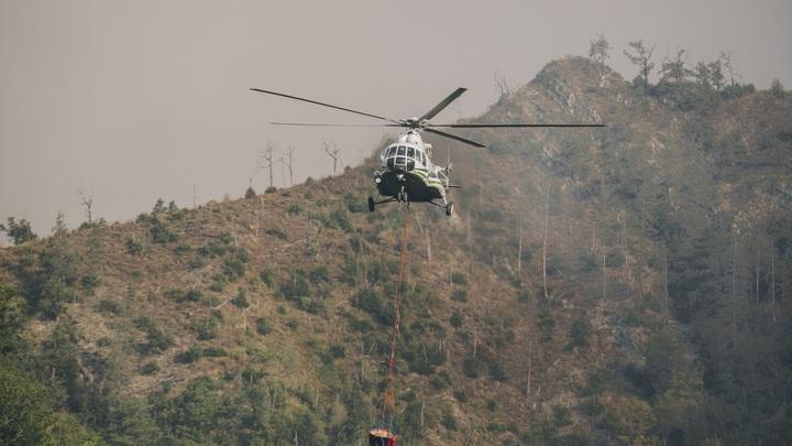 Вертолет пожарных потерпел крушение в Боржомском ущелье в Грузии