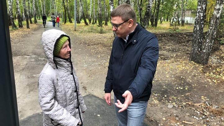 Три главных момента ремонта парка Тищенко показали челябинскому губернатору