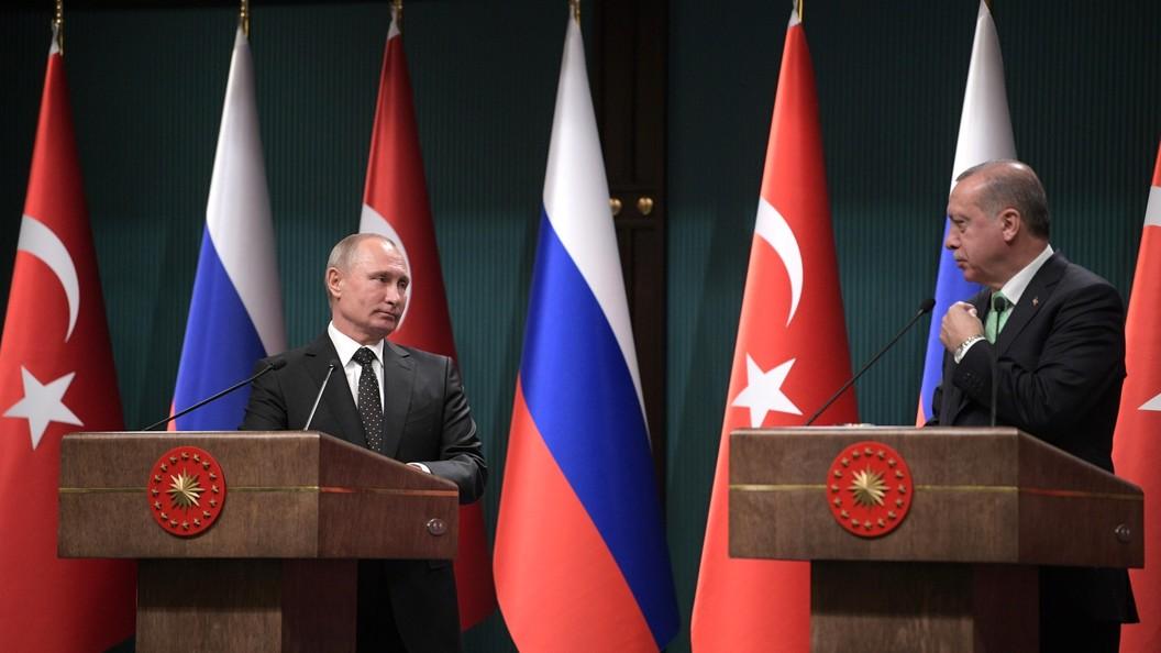 Путин иЭрдоган обсудили предстоящий саммит РФ, Турции иИрана