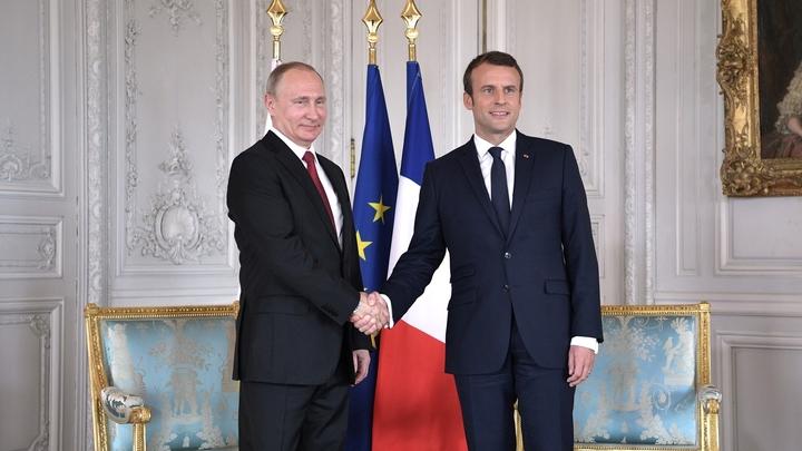Предложение Путина принято: президент Франции Макрон собирается с визитом в Москву