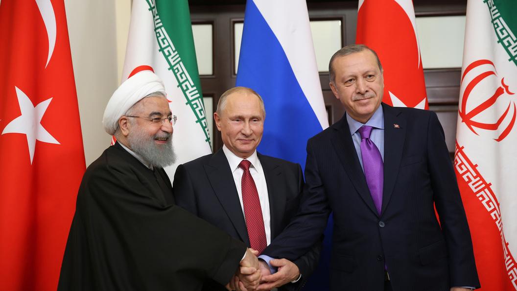 Лидеры России, Турции и Ирана на переговорах в Анкаре сверят часы по ситуации в Сирии