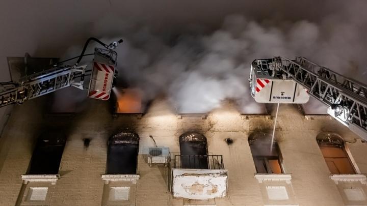 50 человек эвакуированы, четверо в больнице: источники рассказали о причинах пожара на Никитском бульваре