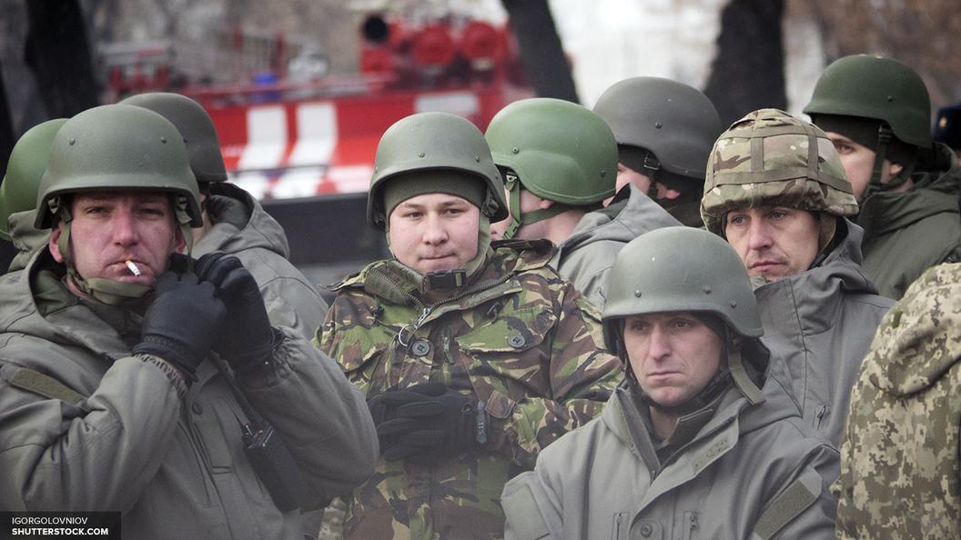 Украинские пограничники изобразили антитеррористические учения на границе с Крымом
