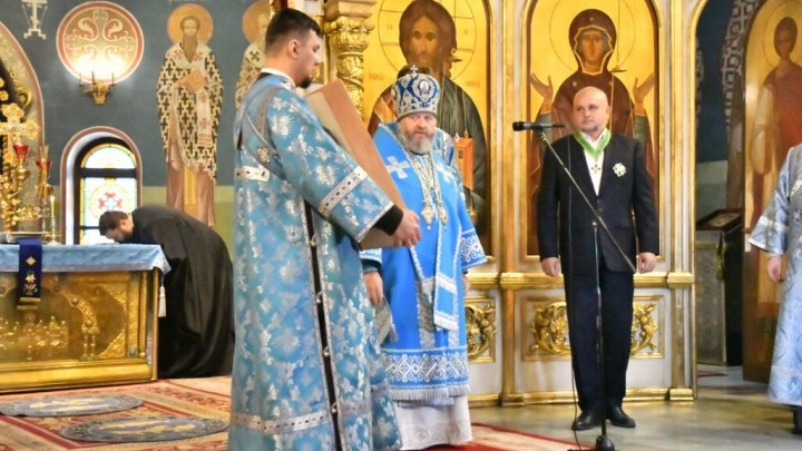 Сергею Цивилеву в день его 60-летия вручили орден преподобного Сергия Радонежского II степени