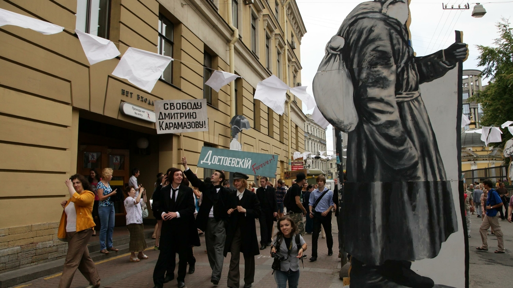 1июля горожане встретят на дорогах Петербурга 3-метровую старуху-процентщицу