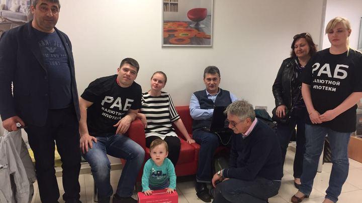 Валютные ипотечники в Москве готовы снова начать голодовку