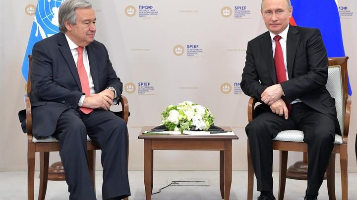 ООН с Россией восстановят мир: Гутерриш поздравил Путина с победой