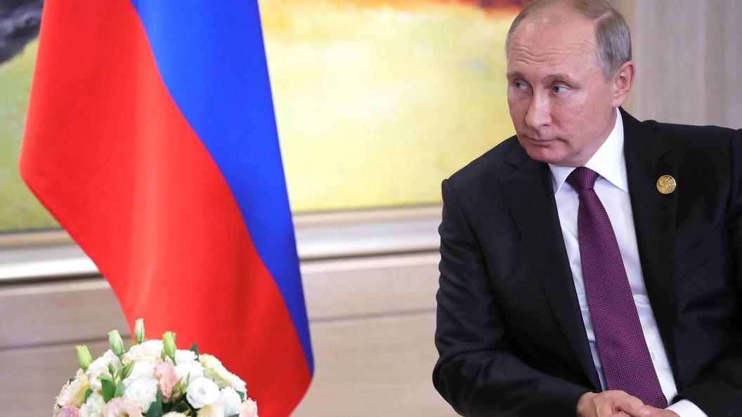 Путин направил Пашиняну телеграмму послучаю вступления вдолжность премьера Армении