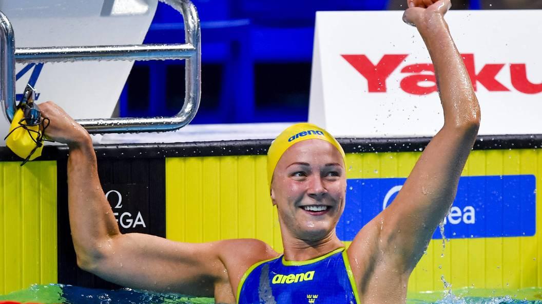 Шведская пловчиха побила мировой рекорд на соревнованиях в Будапеште