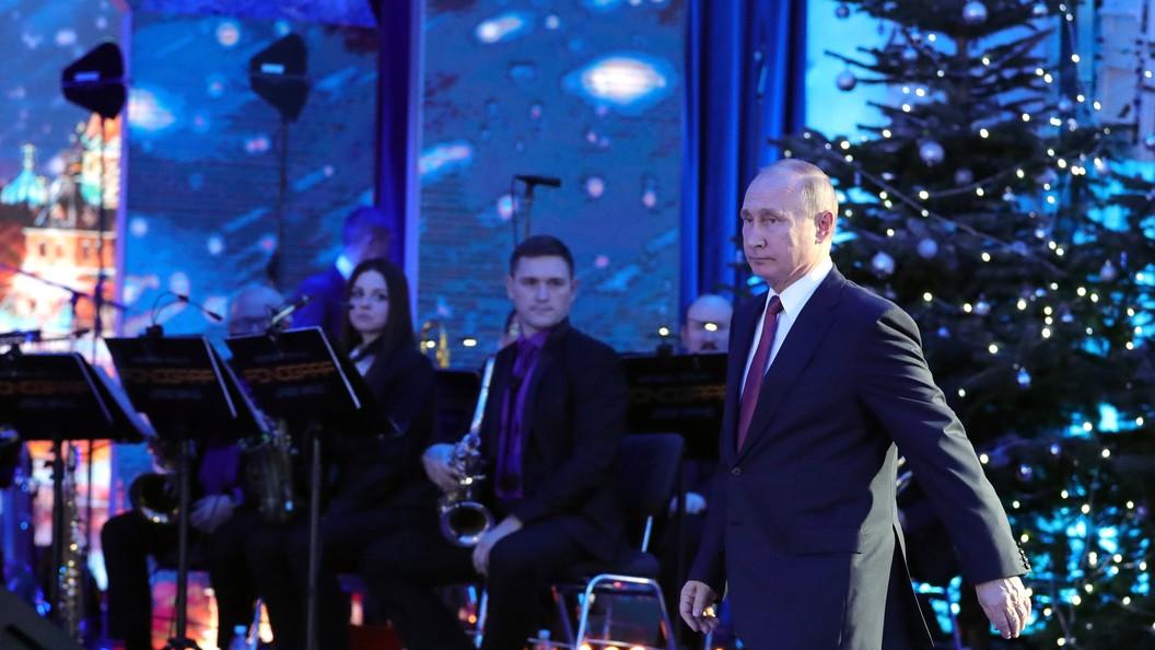 Путин поздравил мировых лидеров сНовым годом иРождеством